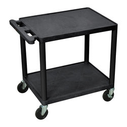 Luxor - Luxor Presentation Cart - LP26E-B - Luxor LP series presentation station AV carts are made of recycled high density polyethylene structural foam molded plastic shelves that will not scratch, dent, rust or stain.