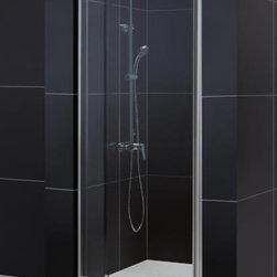 "DreamLine - DreamLine DL-6207C-01CL Flex Shower Door & Base - DreamLine Flex Frameless Pivot Shower Door and SlimLine 32"" by 32"" Single Threshold Shower Base"