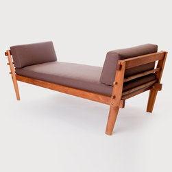 Future Primitive Divan - El Dot's furniture collection includes simple yet stunning pieces, handcrafted by artisans in Nepal. With a focus on sustainable production, this collection is made entirely of renewable and chemical free materials. A Seattle based studio, El Dot was founded by Lishu and Leonardo Rodriguez, environmental artists and designers originally from Nepal and Venezuela. Their affinity for craftsmanship and mindful design is apparent in all of their work, such as this luxurious divan, perfect for a living room or bedroom. This is a made to order item and ships within 4-6 weeks. This item qualifies for free ground shipping.