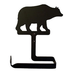 Village Wrought Iron - Village Wrought Iron TT-14 Bear Toilet Tissue Holder (No Roller Design) - Decorative, functional and long lasting handcrafted products for your home carefully made using the finest materials and time-tested methods of craftsmanship. Quality and durable coated products have a baked on powder coating to ensure that you may enjoy each piece for many years. Toilet Tissue Holder Measurements Are Approximate. Proudly crafted in the USA. Material is Handcrafted Iron. Finish is a Flat Black Powder Coated Iron for that long lasting appeal. Silhouette Sizes Vary Slightly. Dimensions are approximately: 5 1/2 In. W x 7 1/2 In. H.  x 3 1/2 In. D.
