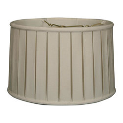 """Royal Designs, Inc"" - ""Shallow Drum English Box Pleat Basic Lampshade - Linen White 17 x 18 x 11.5, 6- - ""This Shallow Drum English Box Pleat Basic Lampshade is a part of Royal Designs, Inc. Timeless Basic Shade Collection and is perfect for anyone who is looking for a traditional yet stunning lampshade. Royal Designs has been in the lampshade business since 1993 with their multiple shade lines that exemplify handcrafted quality and value.