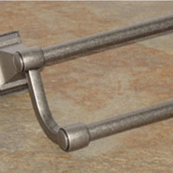 Top Knobs - Top Knobs Stratton Bath 24 in. Double Towel Rod - Top Knobs Stratton Bath 24 in. Double Towel Rod   Cabinet Hardware