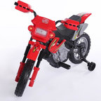 Fun Wheels - Fun Wheels Step-2 Motorbike Battery Powered Riding Toy - Red - 14RS2 - Shop for Tricycles and Riding Toys from Hayneedle.com! It's not ready for jumps but the Fun Wheels Step-2 Motorbike Battery Powered Riding Toy Red is great for getting little riders a start on balance and steering. This adventurous toy looks and feels like a real motorcycle but offers the safety of extra balance wheels and adult-approved speeds. Powered by a rechargeable 6-volt battery. Playtime: 1-2 hours.
