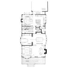 Beach Style Floor Plan Santa Monica Beach House