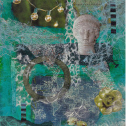 """Wordly (Original) by Sylvia Taylor - Starting with an image, the story evolves. """"Wordly"""" is a moment of a journey to a region with a history and suggests there is more going on then meets the eye."""