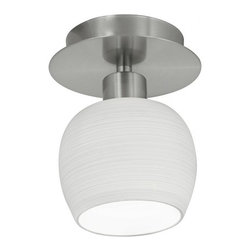 Eglo - Bantry Ceiling Mount - The Bantry 1 Light Ceiling Mount in Matte Nickel Finish with White Glass recessed ceiling lamp range helps you to set accent lighting and illuminate your rooms beautifully.