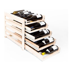 WineLogic - WineLogic Wine Rack - 30 Bottle - Wine Logic is an innovative wine storage solution designed to fit into base cabinets or can be self-standing for use on countertops, in closets, bars, or in other locations throughout the home.