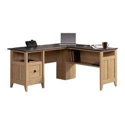 Sauder - Sauder August Hill L-Desk in Dover Oak - Sauder - Home Office Desks - 412320