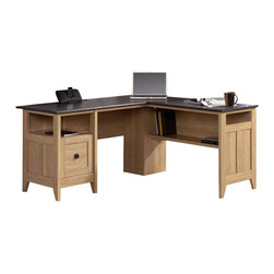 Sauder - Sauder August Hill L-Desk in Dover Oak - Sauder - Home Office Desks - 412320