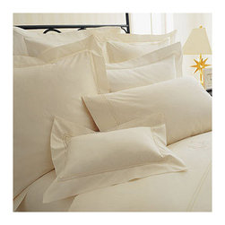 Frontgate - Set of Two Lyric Pillowcases - Frontgate - 500 thread-count percale. 100% Egyptian cotton. Machine washable. Read about The Peacock Alley Story. Immerse yourself in luxurious comfort with our Lyric Bed Linens by Peacock Alley. This delightfully smooth bedding collection is embellished with a beautiful double row of hemstitching. Lyric is the essence of crisp, tailored elegance.. . . . Note: Lyric duvet and bedskirt do not have double row hemstitching. Imported.
