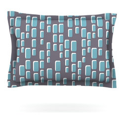 "Kess InHouse - Michelle Drew ""Cubic Geek Chic"" Pillow Sham (Cotton, 30"" x 20"") - Pairing your already chic duvet cover with playful pillow shams is the perfect way to tie your bedroom together. There are endless possibilities to feed your artistic palette with these imaginative pillow shams. It will looks so elegant you won't want ruin the masterpiece you have created when you go to bed. Not only are these pillow shams nice to look at they are also made from a high quality cotton blend. They are so soft that they will elevate your sleep up to level that is beyond Cloud 9. We always print our goods with the highest quality printing process in order to maintain the integrity of the art that you are adeptly displaying. This means that you won't have to worry about your art fading or your sham loosing it's freshness."