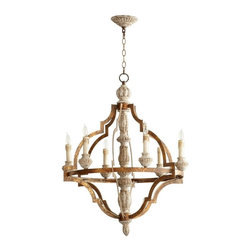 Cyan Design - Cyan Design Bastille Six Light Chandelier in Bronze - Bastille Six Light Chandelier in Bronze with Candle Shaped Bulbs