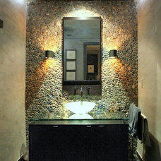 Modern Powder Room by SH interiors