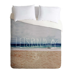 DENY Designs - DENY Designs Leah Flores Lets Run Away III Duvet Cover - Lightweight - Turn your basic, boring down comforter into the super stylish focal point of your bedroom. Our Lightweight Duvet is made from an ultra soft, lightweight woven polyester, ivory-colored top with a 100% polyester, ivory-colored bottom. They include a hidden zipper with interior corner ties to secure your comforter. It is comfy, fade-resistant, machine washable and custom printed for each and every customer. If you're looking for a heavier duvet option, be sure to check out our Luxe Duvets!