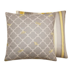 Buzzing Bumble Bees and Dragonflies Collection Throw Pillow l Chloe and Olive - Chloe & Olive