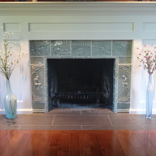 Contemporary Indoor Fireplaces by Pistrucci Artworks
