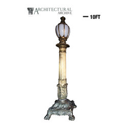 Architectural Archive - Monumental Claw foot Bronze Lamp Post Torchiere - Monumental Claw foot Bronze Lamp Post Torchiere made from original historical casting. Will Manufacture to suit large orders. Contact Us for Bulk Pricing