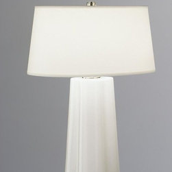 Robert Abbey - Robert Abbey-434-David Easton Wavy - One Light Table Lamp - David Easton is one of the world's most sought after interior designers and an acknowledged master of neo-classical design and architecture.