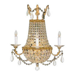 """The Gallery - EMPIRE CrystalALL SCONCE LIGHTING dressed with Swarovski crystal. W18"""" H23""""... - **Please note - this is a wall sconce light, it is made to hang on the wall , not the ceiling*** Swarovskitrimmed WALL SCONCE. Whether placed in a hallway, dining room, or foyer these magnificent wall sconces makes the ultimate statement. True to the empire original, these wonderful wall sconces are made of the finest materials and are fashioned in the same manner that European artisans have used for generations. dressed with Swarovski crystal, these wall sconce are characteristic of the grand wall sconces which decorated the finest Chateaux and Palaces across Europe. They reflects an era of class and elegance, and are sure to lend a special atmosphere in every home. Assembly Required."""