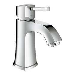 "Grohe - Grohe 23311000 Chrome Grandera Series Two Handle Lav Faucet - Grohe Grandera Single-lever bath faucet 23311 000. This bath faucet features a single-hole installation, a single lever handle for precise volume and temperature control, a Grohe SilkMove ceramic cartridge, a QuickFix installation system, stainless steel braided flexible supplies, a solid brass construction, and Grohe's WaterCare technology for a 1.5 GPM flow rate. This model comes with a 1-1/4"" pop-up waste assembly, and a StarLight Chrome finish."