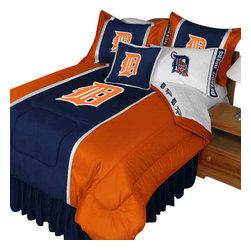 Store51 LLC - MLB Detroit Tigers Comforter Pillowcase Baseball Bedding, Twin - Features: