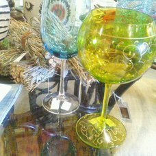 Traditional Wine Glasses by Lee Ann's High Design