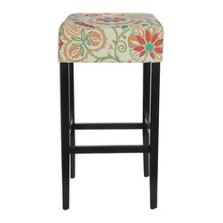 Urban Home Woodstock Bar Stool - Add color and unique design to your bar space. Fabric is custom made for Urban Home.