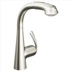 Grohe - Grohe 33893DC0 Ladylux Kitchen Faucet - A Grohe classic that has evolved with the times, the Ladylux (the original kitchen pullout faucet) is the centerpiece of some of America's finest kitchens. Grohe's best-selling pullout faucet has been given a , updated look that combines the innovative design of today's modern kitchens with the functionality and durability of a professional tool. The Ladylux3 features a dynamic and flowing silhouette with a more streamlined body than its predecessors. The flower-like body rises organically from the counter and merges with an elegantly arched spout and distinctive lever.