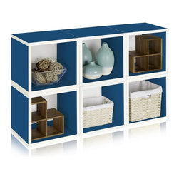 Way Basics - Way Basics Design A Cube Bookcase - BS-285-340-320-CR - Shop for Storage and Organizers from Hayneedle.com! As a simple cube the Way Basics Design A Cube Bookcase offers limitless possibilities. On its own it can hold just about anything from books to toys but when used with other cubes your imagination is the only boundary. This eco-friendly modular storage piece can be stacked in multiple ways and is crafted from durable zBoard recycled paperboard making it incredibly strong water resistant and completely recyclable. Assembly couldn't be easier as there are no special tools or screws requred; simply peel and stick the special 3M Brand adhesive strips and fit the pieces together. Includes 1 double sided backer board required for assembly. Choose from a variety of traditional and bright colors. Note: Cubes are sold separately. The main image shows six individual cubes.About Way BasicsWay Basics is an innovator of eco-friendly furniture and has been creating a wide variety of products using recycled materials for their customers to enjoy in the home and office. Their products require no tools to assemble and are designed to add style and function to any space without leaving a heavy footprint on the environment. Way Basics also works with furniture banks and charities around the globe to help those families in need and is a founding member of the Sustainable Furnishings Council a coalition united to promote environmentally healthy practices in the industry.