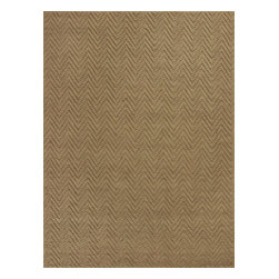 KAS - Kas Porto 1221 Natural Herringbone Rug - 6 ft 6 in x 9 ft 6 in - Kas Porto 1221 Natural Herringbone Area Rug. Kas Porto 1221 Natural Herringbone Area Rug. KAS Porto rugs provide a warm and comfortable atmosphere to any space. Made with the natural fiber of Jute, these rugs are hand-woven and feels softer underfoot than other rugs. The area rugs complement traditional, transitional or modern furnishings because it has a flair of casual elegance that won't distract from other elements. Each Porto area rug has a subtle zigzag design to give extra texture to a room.