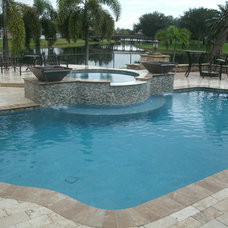 Contemporary  by Premier Pools, Spas & Waterfalls