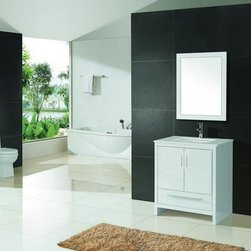 "Aqua Dolce Vanity Line - Aqua Dolce 36"" Modern Bathroom Vanity w/ Ceramic Countertop Sink"