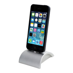 Wiplabs - iDockAll+ - The iDockAll+ is a non-constraining docking solution that works with all iPhones (including the iPhone 6 and 6+), iPads and iPods (whether with 30 Pin or Lightning connector). Cut out of a solid block of aluminum and anodized it has the same aesthetics of Apple hardware to blend in perfectly next to your iMac.