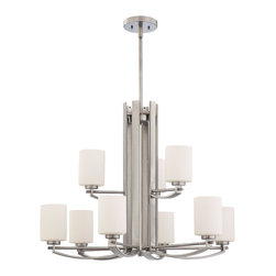 Quoizel Lighting - Quoizel Ty5009 9 Light 900 Watt 2 Tier Up Lighting Chandelier-Antique Nickel - For over seventy years, Quoizel lighting has been dedicated to the design and production of its diversified line of fine lighting products and home accessories. Quoizel is well known for its skilled craftsmanship and the ultimate care that goes into manufacturing each piece of exquisite lighting that it has to offer. In addition, Quoizel lighting features an excellent selection of the ever popular stained glass Tiffany lamps.