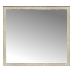 """Posters 2 Prints, LLC - 38"""" x 34"""" Libretto Antique Silver Custom Framed Mirror - 38"""" x 34"""" Custom Framed Mirror made by Posters 2 Prints. Standard glass with unrivaled selection of crafted mirror frames.  Protected with category II safety backing to keep glass fragments together should the mirror be accidentally broken.  Safe arrival guaranteed.  Made in the United States of America"""