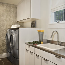 Contemporary Laundry Room by B.Design