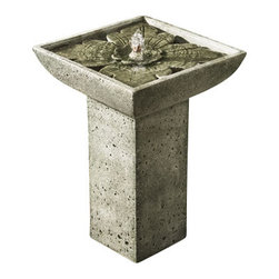 Campania - Andra Garden Water Fountain, Verde - The Andra Fountain will add the soothing sound of water flowing to enhance your back yard or patio.
