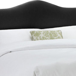 """Skyline Furniture - Shantung Upholstered Arched Panel Headboard - Dress up your bedroom with this beautifully arched headboard. Upholstered in chic, silk-like shantung, its unique silhouette will add richness to your bedroom decor. It's constructed with padding for additional comfort. Attaches to any standard bed frame. Features: -Plush foam padding.-Handmade.-Spot clean only.-Made in the USA.-Gloss Finish: No.-Frame Material: Pine wood.-Hardware Material: Steel.-Adjustable Height: Yes.-Wall Mounted: Yes.-Reversible: No.-Media Outlet Hole: No.-Built In Outlets: No.-Hardware Finish: Black metal.-Finished Back: No.-Distressed: No.-Hidden Storage: No.-Freestanding: No.-Frame Included: No.-Drill Holes for Frame: Yes.-Commercial Use: No.-Recycled Content: No.Specifications: -EPP Compliant: No.-CPSIA or CPSC Compliant: Yes.-CARB Compliant: Yes.-JPMA Certified: No.-ASTM Certified: No.-ISTA 3A Certified: Yes.-PEFC Certified: No.-General Conformity Certificate: Yes.-Green Guard Certified: No.Dimensions: -Overall Product Weight (Size: California King): 40 lbs.-Overall Product Weight (Size: Full): 31 lbs.-Overall Product Weight (Size: King): 45 lbs.-Overall Product Weight (Size: Queen): 33 lbs.-Overall Product Weight (Size: Twin): 24 lbs.-Leg Height: 6"""".-Bottom of Headboard to Floor: 24"""".Assembly: -Assembly Required: Yes.-Tools Needed: Allen wrench, wrench.-Additional Parts Required: No.Warranty: -1 Year limited warranty (excludes fabric).-Product Warranty: 1 Year limited (Excludes fabric)."""
