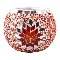 Art-Win Lighting CH11010 Handmade Mosaic Candle Holder, Red - Handmade in Istanbul, Turkey. Hand-crafted item is produced with glass-on-glass technique. Tradition of centuries is now available for you. Fine handmade mosaic lamps that require years of experience and specialized craftsmanship are carefully manufactured by Art-Win Lighting.
