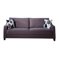 Istikbal - Denver Sofa Sleeper in Cozy Brown - This sofa is made of strong and durable materials. Its ergonomic design provides you with full comfort.
