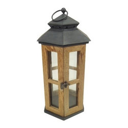 Smith & Hawken Glass/Wood Outdoor Lantern - Don't forget the outdoor lighting when planning a space! Lanterns and candles are a must for creating that warm glow of summer on the porch.