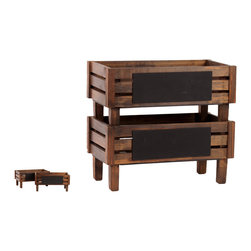 Urban Trends Collection - Urban Trends Collection Wooden Storage - This versatile, wooden storage bin from Urban Trends Collection will add a decorative touch to any space. This durable bin features a two-shelf design.