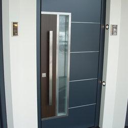 Distinctive FRONT DOORS on display - Exterior door model B33 features: