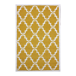 Nuloom - nuLOOM Handmade Marrakesh Trellis Gold Wool Rug (3' x 5') - Inspired by the latest trends in Moroccan trellis patterns,these rugs will add a touch of classic to any decor. This rug is woven with 100-percent wool.