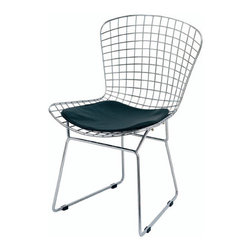 Bertoia Wire Chair Reproduction, Black - Chair inspired in Harry Bertoia's Wire chair.