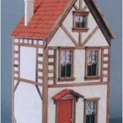 Real Good Toys Country Tudor Dollhouse Kit - 1 Inch Scale - Escape to England with the relaxing atmosphere of the Real Good Toys Country Tudor Dollhouse Kit. Built with the same visible framework of Shakespeare's Globe this Country Tudor Home also features a tall thin chimney on a steeply pitched roof. Paint the wooden shingles red or gray to imitate clay or stone for the true architectural style of the 15th and 16th centuries. The filler between the framework pieces is meant to imitate the wattle and daub (small sticks and wet clay) that was commonly used so long ago. This charming English home is sure to evoke endless hours of imaginative play.Classic features include a front-opening design wooden roof shingles pre-cut beams and stucco grit and sturdy .375-inch thick floors and front.Recommended assembly supplies:HammerFine-toothed sawScrewdriverGluesUtility knifeMasking tapeSandpaper: 100 and 320 gritPaintsPaint brushesRuler3/4-inch or 1-inch bradsStep-by-step instructions with detailed drawings are included. Paint glue curtains and any landscaping or furnishings are not included.Overall dimensions include items that protrude such as roof cresting. This item is not recommended for children under 3 years.About Real Good ToysBased in Barre Vt. Real Good Toys has been handcrafting miniature homes since 1973. By designing and engineering the world's best and easiest-to-assemble miniature homes Real Good Toys makes dreams come true. Their commitment to exceptional detail the highest level of quality and ease of assembly make them one of the most recommended names in dollhouses. Real Good dollhouses make priceless gifts to pass on to your children and your children's children for years to come.