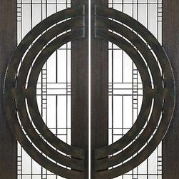 "Pair of 2-1/4"" Thick Mahogany Doors Matte Glass Iron Work - SKU#NW-1659-Ext-2BrandAAWDoor TypeExteriorManufacturer CollectionNew World DoorsDoor ModelDoor MaterialWoodWoodgrainMahoganyVeneerPrice5440Door Size Options2(30"") x 80"" (5'-0"" x 6'-8"")  $02(36"") x 80"" (6'-0"" x 6'-8"")  +$1002(30"") x 96"" (5'-0"" x 8'-0"")  +$4002(36"") x 96"" (6'-0"" x 8'-0"")  +$500Core TypeSolidDoor StyleModern , CircleDoor Lite StyleFull Lite , 1 LiteDoor Panel StyleHome Style MatchingContemporaryDoor ConstructionEngineered Stiles and RailsPrehanging OptionsPrehung , SlabPrehung ConfigurationDouble DoorDoor Thickness (Inches)2.25Glass Thickness (Inches)3/4Glass TypeTriple GlazedGlass CamingGlass FeaturesTempered , InsulatedGlass StyleMatte , Art GlassGlass TextureMatte , Art GlassGlass ObscurityDoor FeaturesDoor ApprovalsFSCDoor FinishesDoor AccessoriesWeight (lbs)680Crating Size25"" (w)x 108"" (l)x 52"" (h)Lead TimeSlab Doors: 7 daysPrehung:14 daysPrefinished, PreHung:21 daysWarranty1 Year Limited Manufacturer WarrantyHere you can download warranty PDF document."