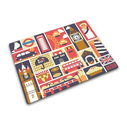 Joseph Joseph - Joseph Joseph Illustrations & Patterns Worktop Saver, London - Joseph Joseph has been leading the way in worktop saver design since 2003 with their colorful, fun designs. They continue to demonstrate their skill and creative flair for this key product category with inspired designs year after year. These striking new designs are the latest addition to their range of illustrated worktop savers. Made from toughened glass and with non-slip rubber feet, these multi-function boards provide a hygienic, odor and stain resistant work surface for all types of food preparation. They are dishwasher safe and carry a lifetime guarantee against breakage.