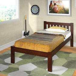 Donco Kids - Donco Kids Mission Dark Cappuccino Bed - The Mission Bed from Donco Kids,features a sleek design that makes it a great addition to any bedroom. This bed also offers a dark cappuccino finish and a solid wood construction made with 100-percent pine.