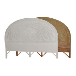 Round Wicker Headboard, King